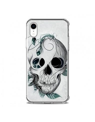 Coque iPhone XR Skull Boho Tête de...