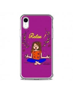 Coque iPhone XR Fille Relax Zen Yoga - Leellouebrigitte