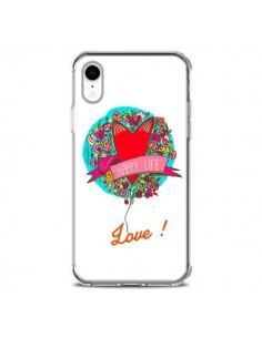 Coque iPhone XR Love Happy Life - Leellouebrigitte