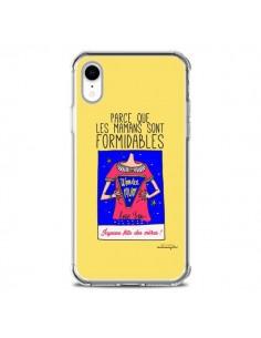 Coque iPhone XR Parce que les mamans sont formidables Fête des Mères - Leellouebrigitte