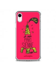 Coque iPhone XR Je suis Parisienne La Tour Eiffel Rose - Leellouebrigitte