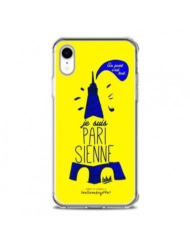 Coque iPhone XR Je suis Parisienne La Tour Eiffel Jaune - Leellouebrigitte