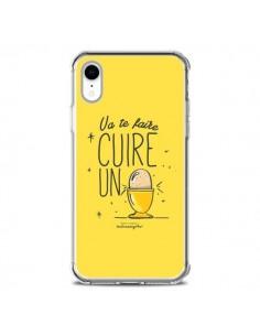 Coque iPhone XR Va te faire cuir un oeuf jaune - Leellouebrigitte