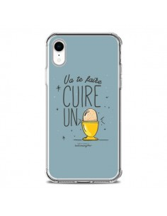 Coque iPhone XR Va te faire cuir un oeuf gris - Leellouebrigitte