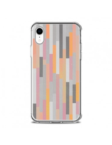 Coque iPhone XR Bandes Couleurs -...