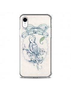 Coque iPhone XR Bird Oiseau Mignon Vintage - Lassana
