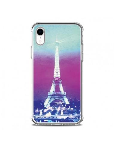 Coque iPhone XR Tour Eiffel Night -...