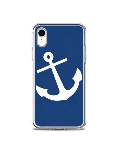 Coque iPhone XR Ancre Navire Navy...