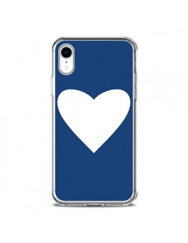 Coque iPhone XR Coeur Navy Blue Heart...