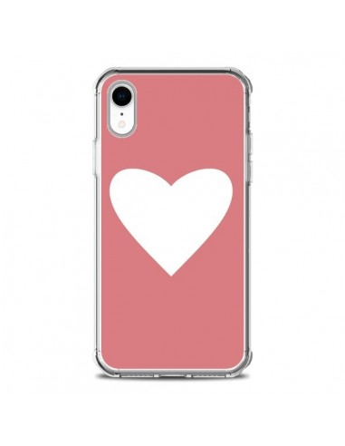 Coque iPhone XR Coeur Corail - Mary Nesrala