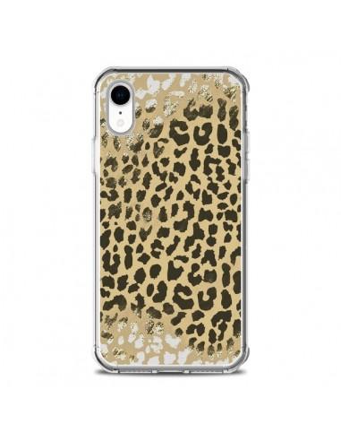Coque iPhone XR Leopard Golden Or...