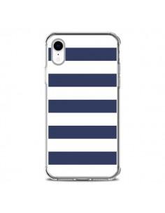 Coque iPhone XR Bandes Marinières Bleu Blanc Gaultier - Mary Nesrala