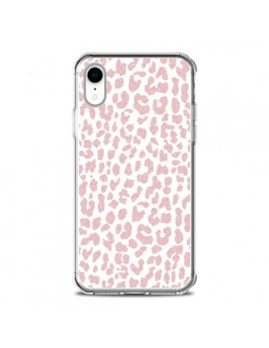 Coque iPhone XR Leopard Rose Corail -...
