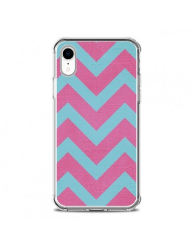 Coque iPhone XR Strawberry Chevron...