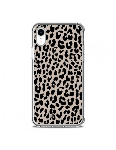 Coque iPhone XR Leopard Marron - Mary...