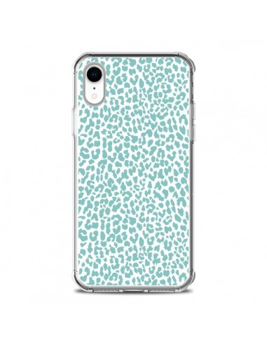 Coque iPhone XR Leopard Turquoise - Mary Nesrala