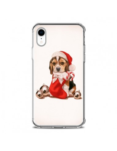 Coque iPhone XR Chien Dog Pere Noel...