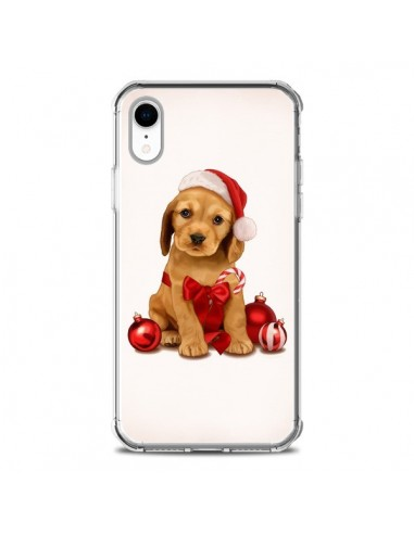 Coque iPhone XR Chien Dog Pere Noel Christmas Boules Sapin - Maryline Cazenave