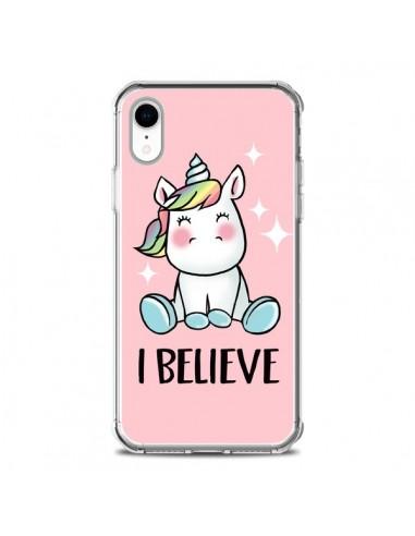 Coque iPhone XR Licorne I Believe -...