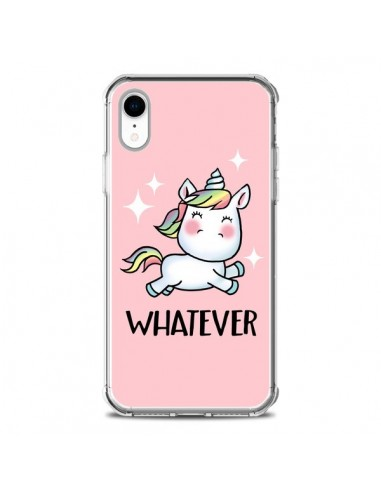 Coque iPhone XR Licorne Whatever - Maryline Cazenave