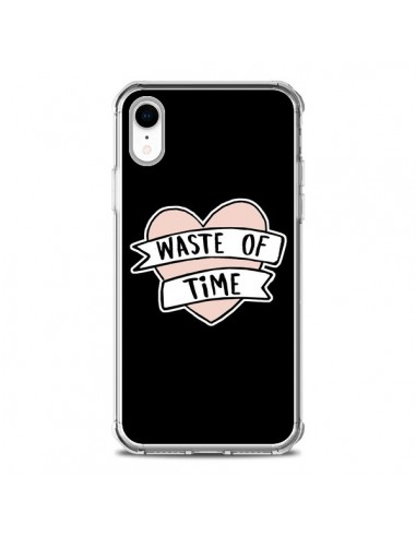 Coque iPhone XR Waste of Time Coeur -...