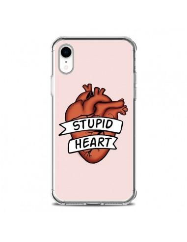 Coque iPhone XR Stupid Heart Coeur -...