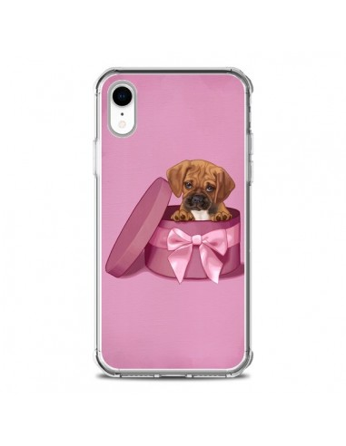 Coque iPhone XR Chien Dog Boite Noeud...