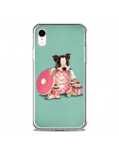 Coque iPhone XR Chien Dog Cupcakes...
