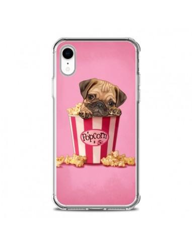 Coque iPhone XR Chien Dog Popcorn...