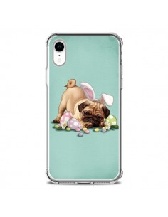 Coque iPhone XR Chien Dog Rabbit Lapin Pâques Easter - Maryline Cazenave