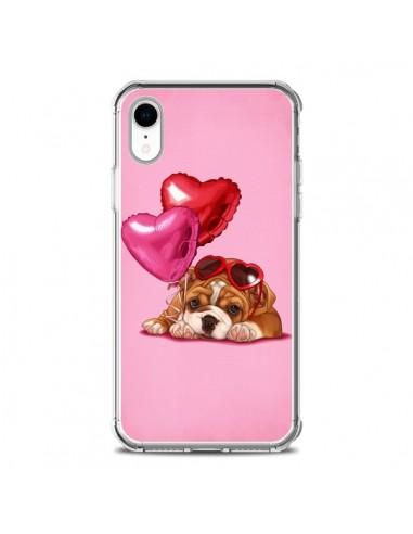Coque iPhone XR Chien Dog Lunettes Coeur Ballon - Maryline Cazenave