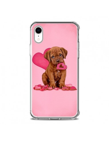 Coque iPhone XR Chien Dog Gateau...