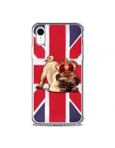 Coque iPhone XR Chien Dog Anglais UK British Queen King Roi Reine - Maryline Cazenave