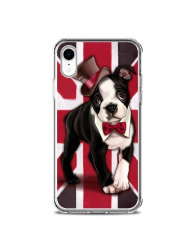 Coque iPhone XR Chien Dog Anglais UK British Gentleman - Maryline Cazenave