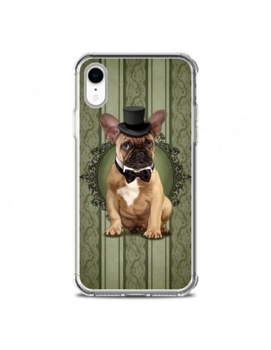 Coque iPhone XR Chien Dog Bulldog Noeud Papillon Chapeau - Maryline Cazenave