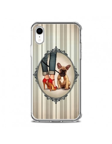 Coque iPhone XR Lady Jambes Chien Dog - Maryline Cazenave