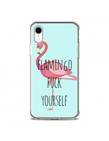Coque iPhone XR Flamingo Fuck Yourself - Maryline Cazenave