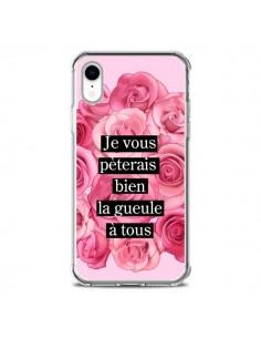 Coque iPhone XR Je vous pèterais Fleurs - Maryline Cazenave