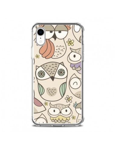 Coque iPhone XR Chouette Vintage -...