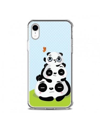 Coque iPhone XR Panda Famille - Maria Jose Da Luz