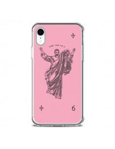 Coque iPhone XR God Pink Drake Chanteur Jeu Cartes - Mikadololo