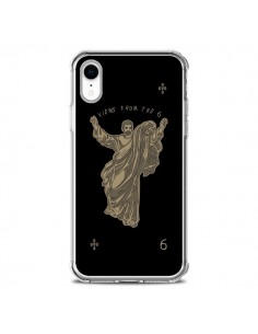 Coque iPhone XR God Black Drake Chanteur Jeu Cartes - Mikadololo