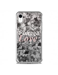 Coque iPhone XR Vintage Love Noir Flower - Monica Martinez