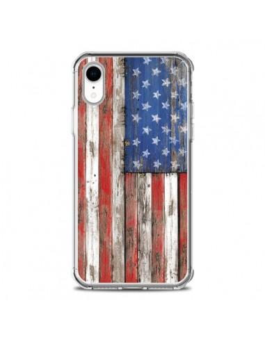 Coque iPhone XR Drapeau USA Vintage...