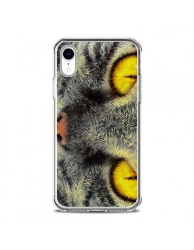 Coque iPhone XR Chat Gato Loco -...