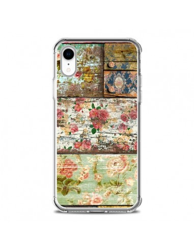 Coque iPhone XR Lady Rococo Bois...