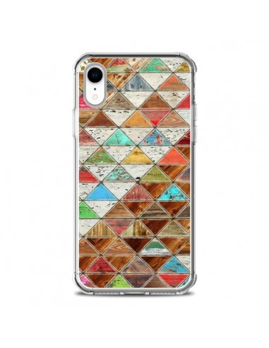 Coque iPhone XR Love Pattern Triangle...