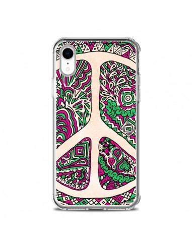 Coque iPhone XR Peace and Love Azteque Vainilla - Maximilian San