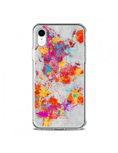 Coque iPhone XR Terre Map Monde Mother Earth Crying - Maximilian San