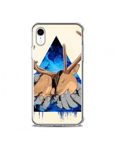 Coque iPhone XR Cerf Triangle Seconde Chance - Maximilian San
